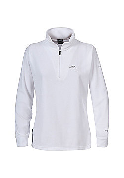 Trespass Ladies Louviers Fleece Zip Top - White
