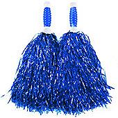 Blue Standard Tinsel Pom Pom's