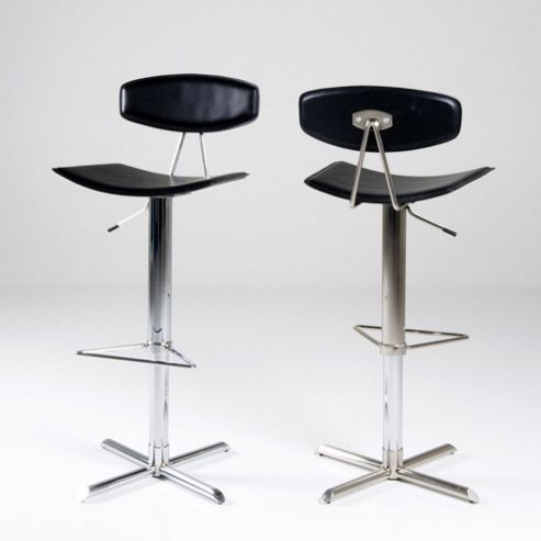 Aspect Design Sarah Chrome Barstool - Black