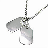 Urban Male Sterling Silver Double Dog Tag & Chain For Men