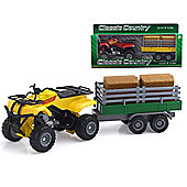 Classic Country 1:32 Vehicle Quad And Trailer
