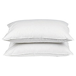 Tesco Medium Cotton Cover Anti Allergy Pillow Twinpack