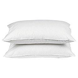 Tesco Medium Cotton Cover Anti Allergy Pillow Twinpack
