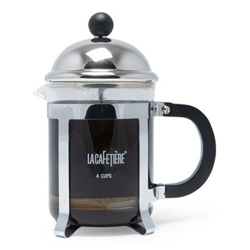 La Cafetiere Optima 4 Cup Cafetiere in Chrome