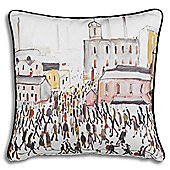 Thomas Frederick The Lowry Going to Work Cushion