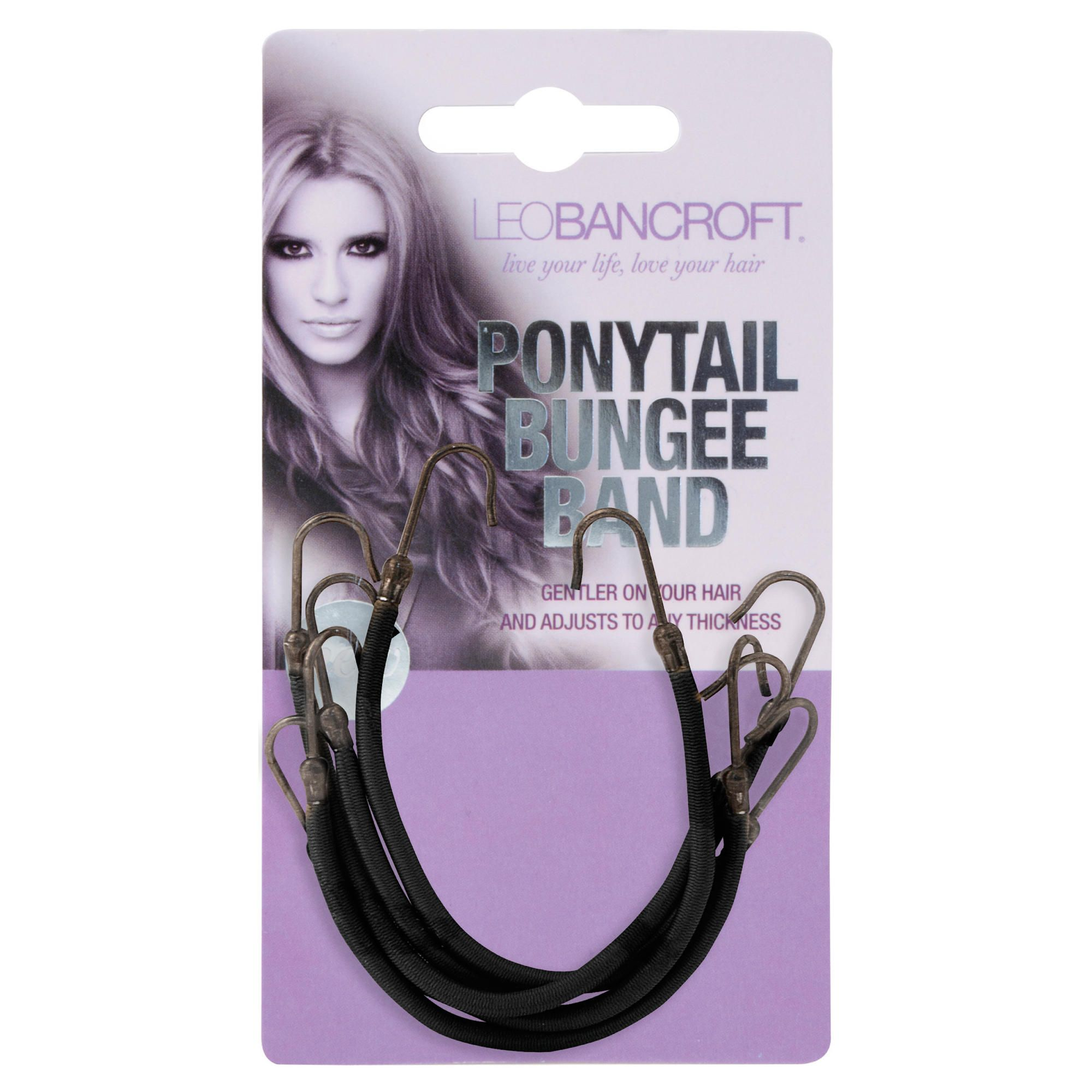 Leo Bancroft Hair Bungee - Black