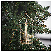 Tesco Birdcage Hanging Christmas Bauble Decoration