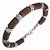 Urban Male Men's Bracelet Surfer Style Brown Bead Bracelet