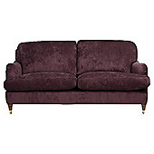 Florence Medium 2 Seater  Sofa Velvet, Plum
