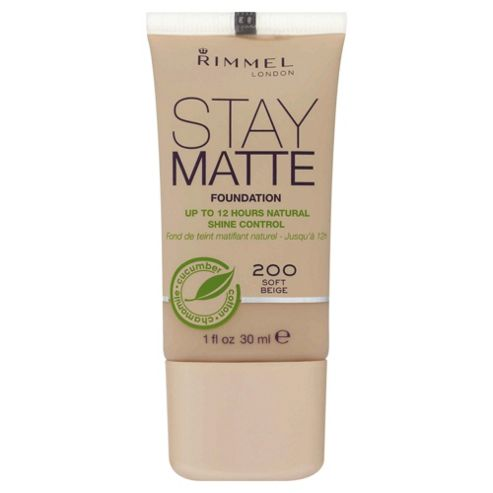 Rimmel Stay Matte Foundation Soft Beige Rimmel Stay Matte Foundation