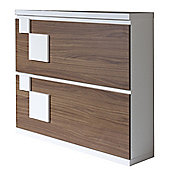 Gallego Sanchez Concept Shoe Storage - Walnut and White