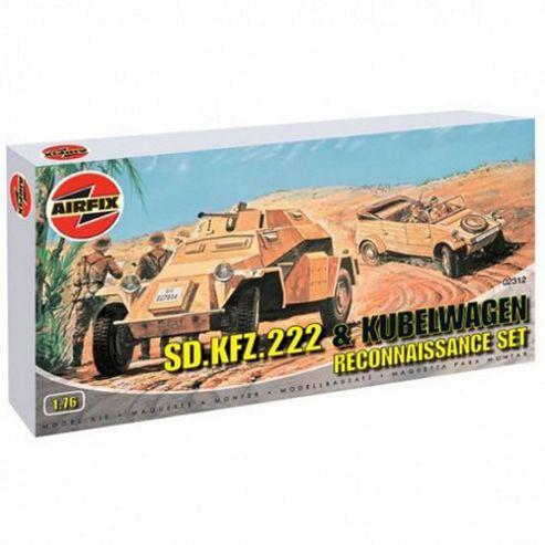 SD.KFZ.222 & Kubelwagen Reconnaissance Set (A02312) 1:76