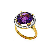 QP Jewellers Diamond & Amethyst Ring in 14K Gold