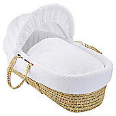 Clair de Lune Palm Moses Basket (Honeycomb White)