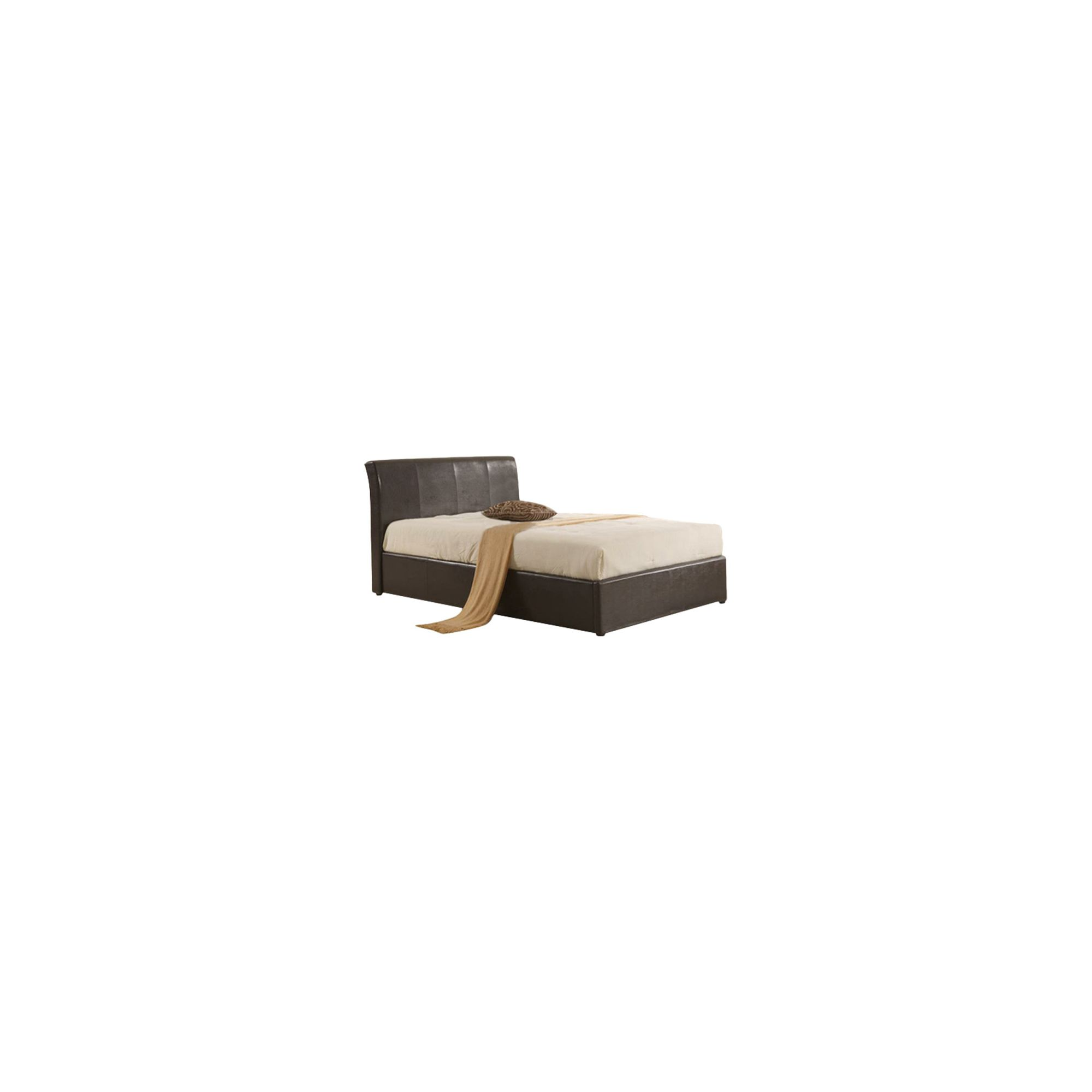 MetalBedsLtd Texas New Ottoman Bed - Brown - Small Double at Tesco Direct