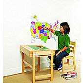 USA State Map Wall Stickers