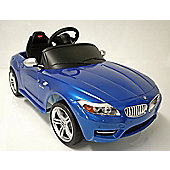 Kids Electric Car BMW Z4 6 Volt Blue Gloss