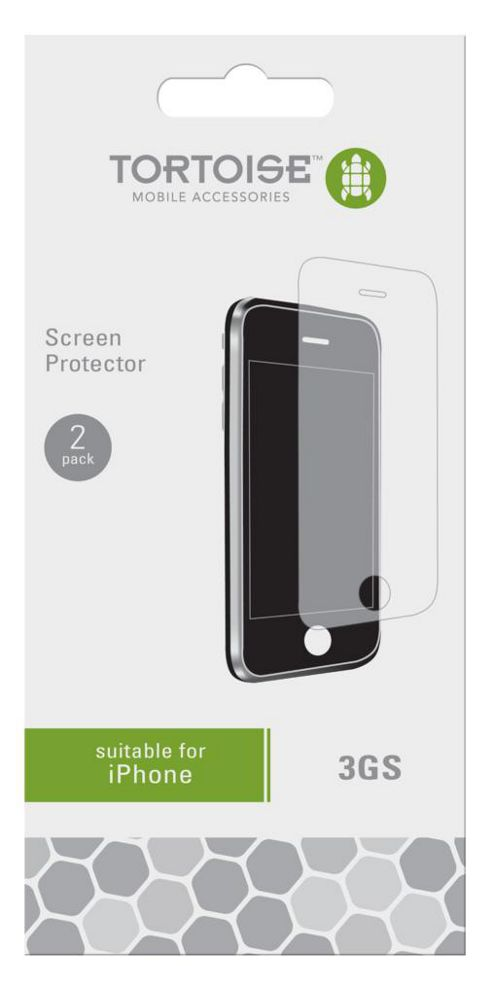 Tortoise™ iPhone 3GS Screen Protector Twin Pack