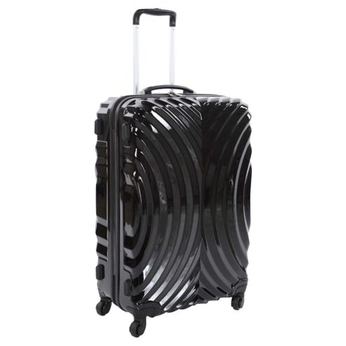 Beverly Hills Polo Club Hard Shell 4-Wheel Suitcase, Black Oyster Print Small