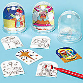 Nativity Colour-in Snowstorms (Pack of 4)