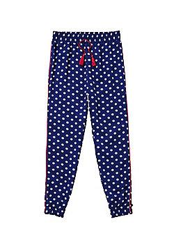 F&F Circle Print Harem Pants - Blue