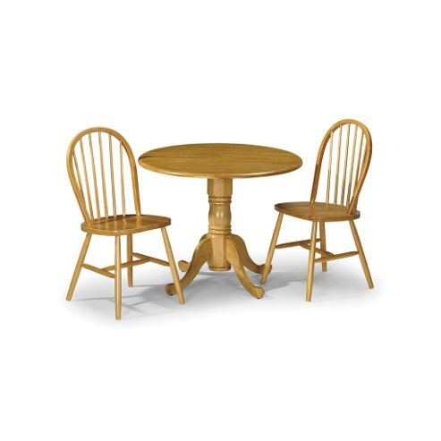 Buy Traditional Round Pine Table 2 Solid Pine Chairs Dining Set Fast