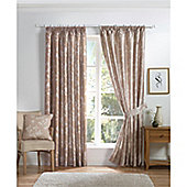 Curtina Anais Natural 90x90 inches (228x228cm) Lined Curtains