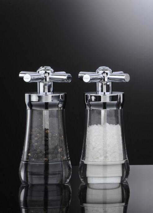 David Mason Design Tap Salt and Pepper Mill Set