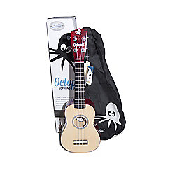 Octopus Soprano Ukulele Outfit Natural With Gig Bag