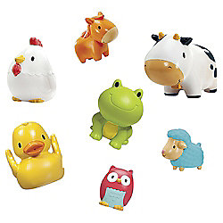 Munchkin Squirting Farmyard Friends Bath Toys, 7 pack