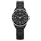 Oasis Ladies Black Plastic Watch - B1199