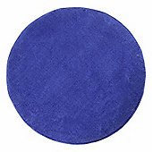 Homescapes Hand Tufted Plain Cotton Blue Large Round Rug, 150 cm Diametre