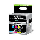 Lexmark 100XL Ink Cartridges High Yield - Black/Cyan/Magenta/Yellow