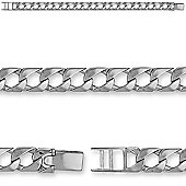 Jewelco London Sterling Silver - Casted Curb - Bracelet - Children's