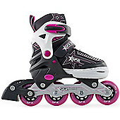 SFR Kids' Inline Skates - Pulsar Adjustable Pink - Medium (Junior UK 12 - UK 2) - Pink