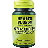 Health Plus Super Choline 60 Veg Tablets