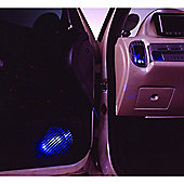 Prism Micro Blue LED Light Car Interior Styling 4 Pack