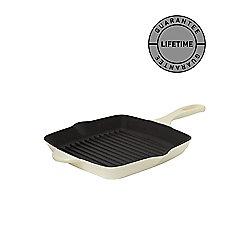 Linea Cream Cast Iron Grill Pan, 26cm