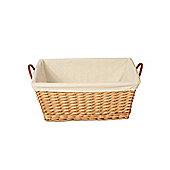Wicker Valley Willow Rectangular Lining Basket