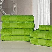 Dreamscene Luxury Egyptian Cotton 7 Piece Bathroom Towel Set - Lime