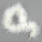 Marabou Feather Trim Cream - Pack of 2 metre