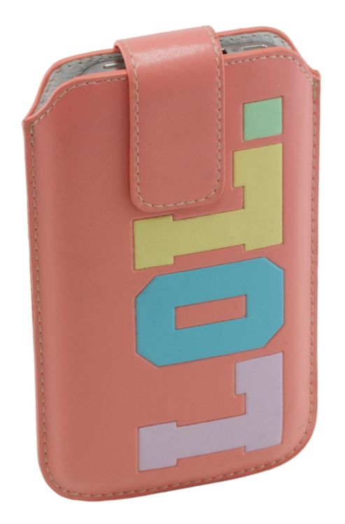 Trendz Leather Slip Pouch for Universal Smartphone Devices - Pink LOL