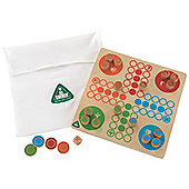ELC Wooden Snakes and Ladders with Ludo