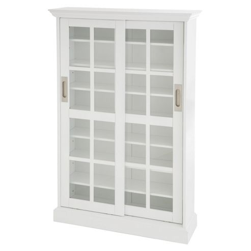 Southern Enterprises White Windowpane Media Cabinet