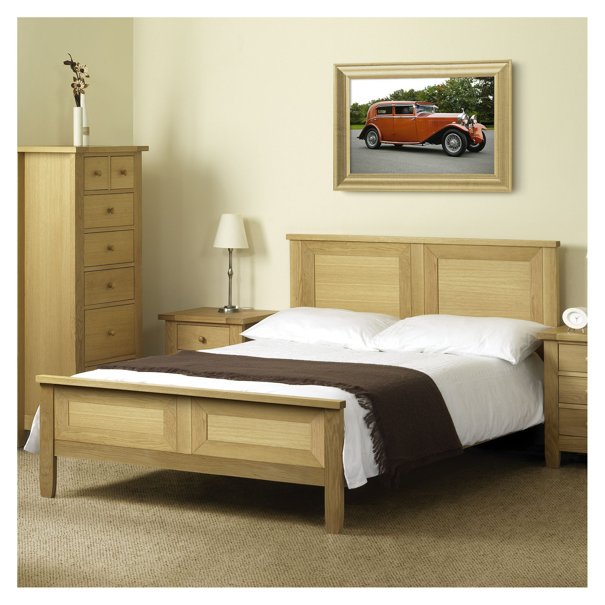 Julian Bowen Lyndhurst Bed Frame - Double at Tesco Direct