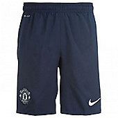 2013-14 Man Utd Away Nike Football Shorts - Navy