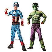 Rubies - Deluxe Hulk to Captain America - Child Costume 10-11 years