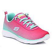 Skechers Girls Neon & Pink Equalizer Trainers - Pink