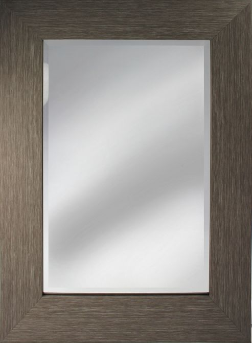 Pharmore Ltd Contemporary Mirror - Black - 120 cm H x 80 cm W x 2 cm D