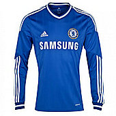 2013-14 Chelsea Adidas Home Long Sleeve Shirt - Blue